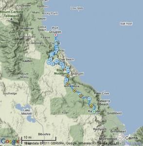 Kuranda to Port Douglas course map