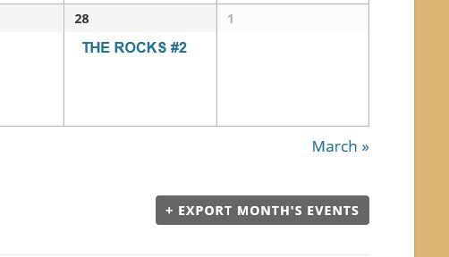 Calendar Export